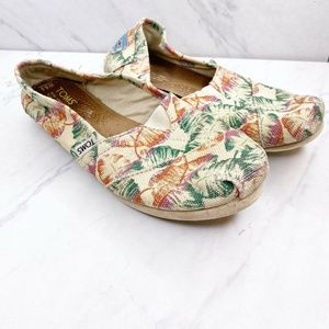 TOMS Classic Floral Spring Colorful Flats Shoes